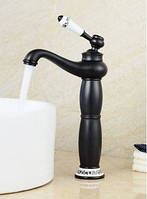 Смеситель кран в ванную комнату черный однорычажный, фото 1