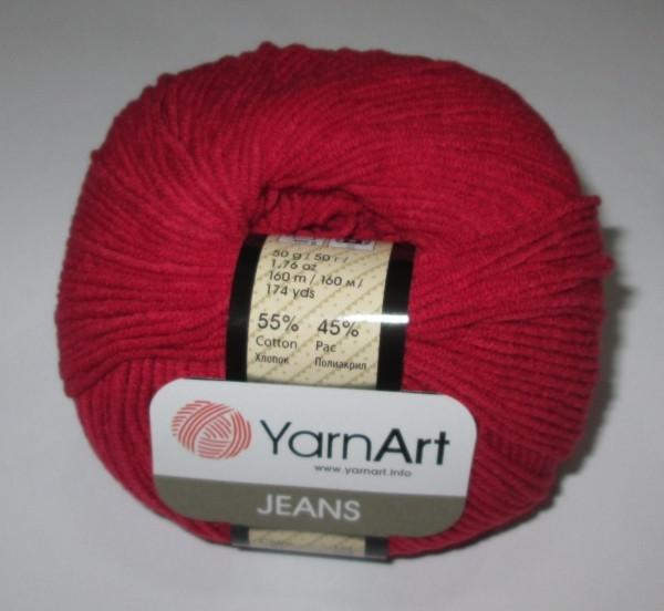 Пряжа YarnArt Джинс, темно-красная
