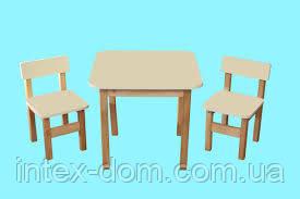 """Стол деревянный цветной ваниль """"Финекс"""""""