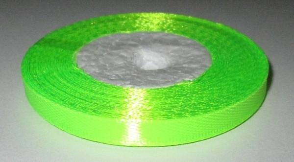 Лента атласная 6 мм, кислотно-салатовая