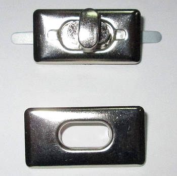 Застежка поворотная 3,5/1,7 см, серебро