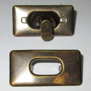 Застежка поворотная 3,5/1,7 см, медь