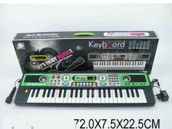 Детский Синтезатор MQ-823USB, 49 клавиши, 72х7,5х22,5 см, фото 2