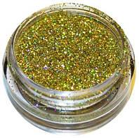 Глиттер золотистый 30 гр., голограмма