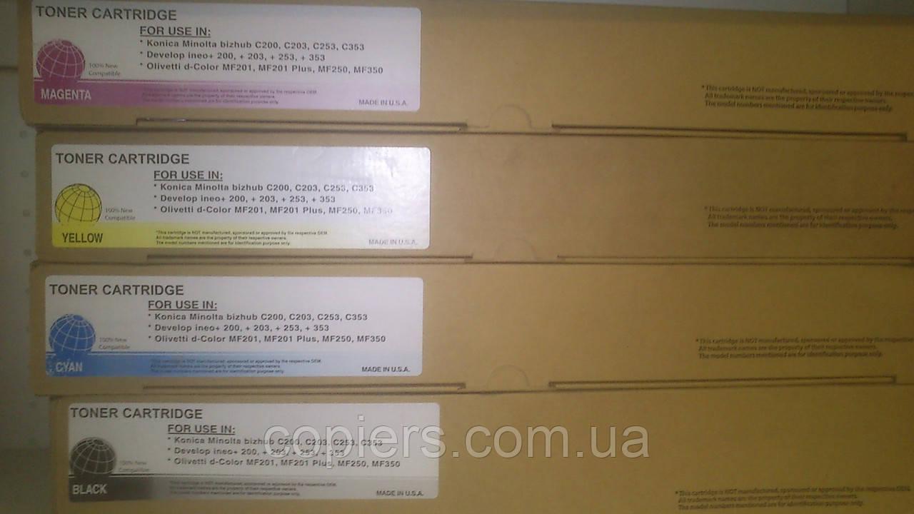 Тонер картридж TN213 /TN214/ TN314 C Konica Minolta Bizhub C200/C203/C253/C353, не оригинал, tn 314c