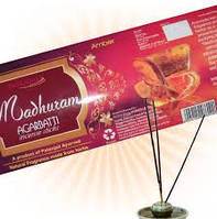Аромапалочки Амбер, Madhuram  Amber Agarbatti Patanjali, 25 гр