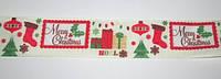 Лента репсовая 2,5 см, Рождество