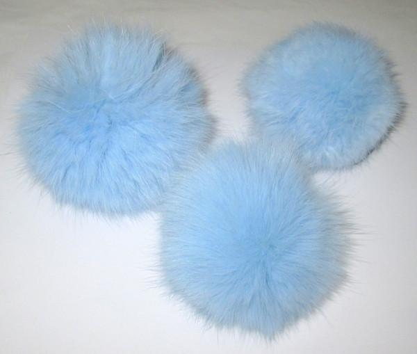 Меховой помпон, кролик голубой