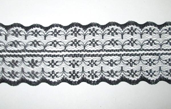 Кружево гипюр двухстороннее 4 см, черное