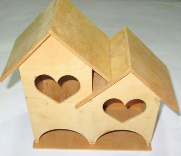 Заготовка / двойной чайный домик, Сердечки