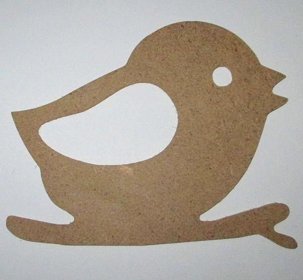 Заготовка / Птичка на ветке 12*9 см