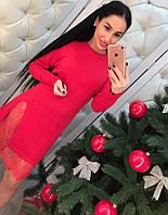 Платье женское с кружевом