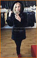 Норковая шуба с замшевыми вставками   Магазин женских шуб