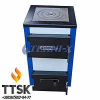 Котёл Tehni-x КОТ-15-У-П-премиум -твёрдое топливо+электро с варочной поверхностью