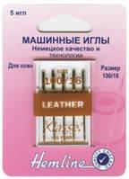 Иглы для бытовых швейных машин кожа №100