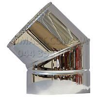 Колено для дымохода утепленное ф130/200 нерж/нерж 45гр (сендвич)