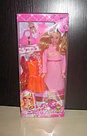 Беременная  кукла типа Барби с малышом и аксессуарами