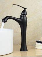 Смеситель кран в ванную комнату черный однорукий, фото 1