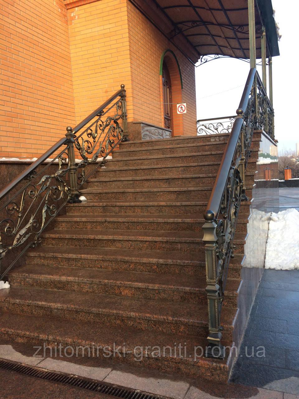 Гранітні сходи фото 4