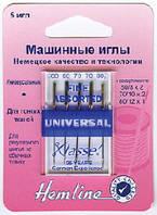 Иглы для бытовых швейных машин универсальные №60/8 - 2мм, 70/10 - 2мм, 80/12 - 1мм