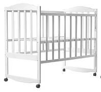Детская кроватка  белая  боковина  ОПУСКАЕТСЯ