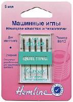 Иглы для бытовых швейных машин квилтинг №80/12 (медиум)
