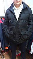Зимняя мужская куртка-парка  черная  в наличии