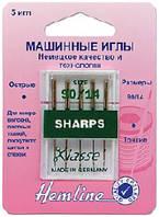 Иглы для бытовых швейных машин c острым кончиком №90/14