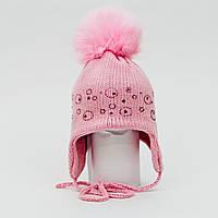 Шапка  зимняя с помпоном TuTu для девочки