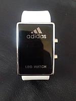Спортивные часы Adidas LED WATCH, Адидас Лед белые ( код: IBW018O )