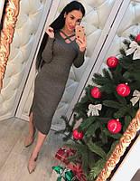 Красивое трикотажное платье с люриксной ниткой