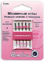 Иглы для бытовых швейных машин вышивальные №75 - 3мм, 90 - 2мм