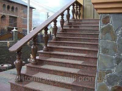 Гранітні сходи фото 12