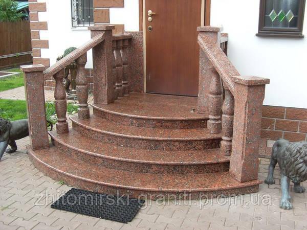 Гранітні сходи фото 13