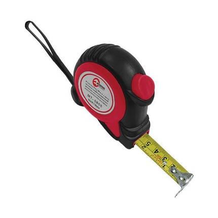 Рулетка 7.5м*25мм с автоматической блокировкой полотна, на зацепе полотна установлены магниты INTERTOOL, фото 2