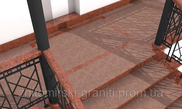 Гранітні сходи фото 16