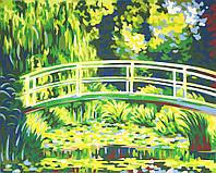 """Набор, техника акриловая живопись по номерам, """"Мост над прудом"""", ROSA START"""