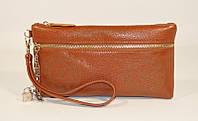 Клатч - кошелек женский натуральная кожа коричневый Louis Vuitton 1870