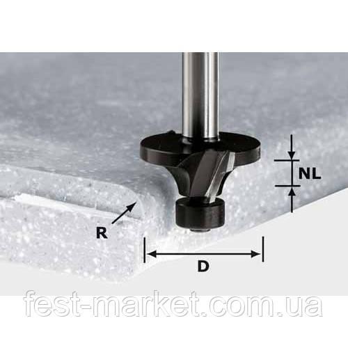 Фреза скругляющая с опорным подшипником для обработки минерала и акрила HW R 6,35/D28,8SS S12 Festool 492683