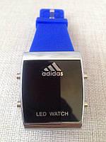 Спортивные часы Adidas LED WATCH, Адидас Лед синие, фото 1