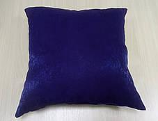 Подушка однотонная Софт Синий, размер 40х40см (Глухая), фото 2
