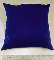 Подушка однотонная Софт Синий, размер 40х40см (Глухая), фото 3