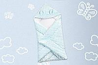 Конверт-одеяло Медвежонок Голубой