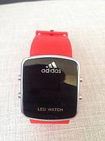 Спортивные часы LED WATCH, Лед красные