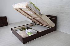 Кровать двуспальная деревянная с подъемным механизмом Каролина Микс мебель, цвет на выбор, фото 2