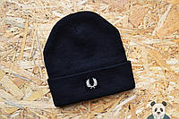 Стильная мужская шапка фред пери,Fred Perry черная