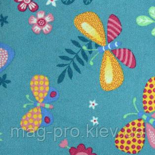 Детский ковер бирюзовый Бабочки (PAPILLON), фото 2