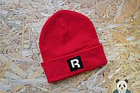 Молодежная шапка мужская рибок,Reebok красная