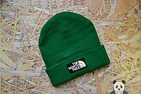 Молодежная шапка мужская The North Face Beanie зеленая
