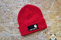 Молодежная шапка мужская carhartt красная